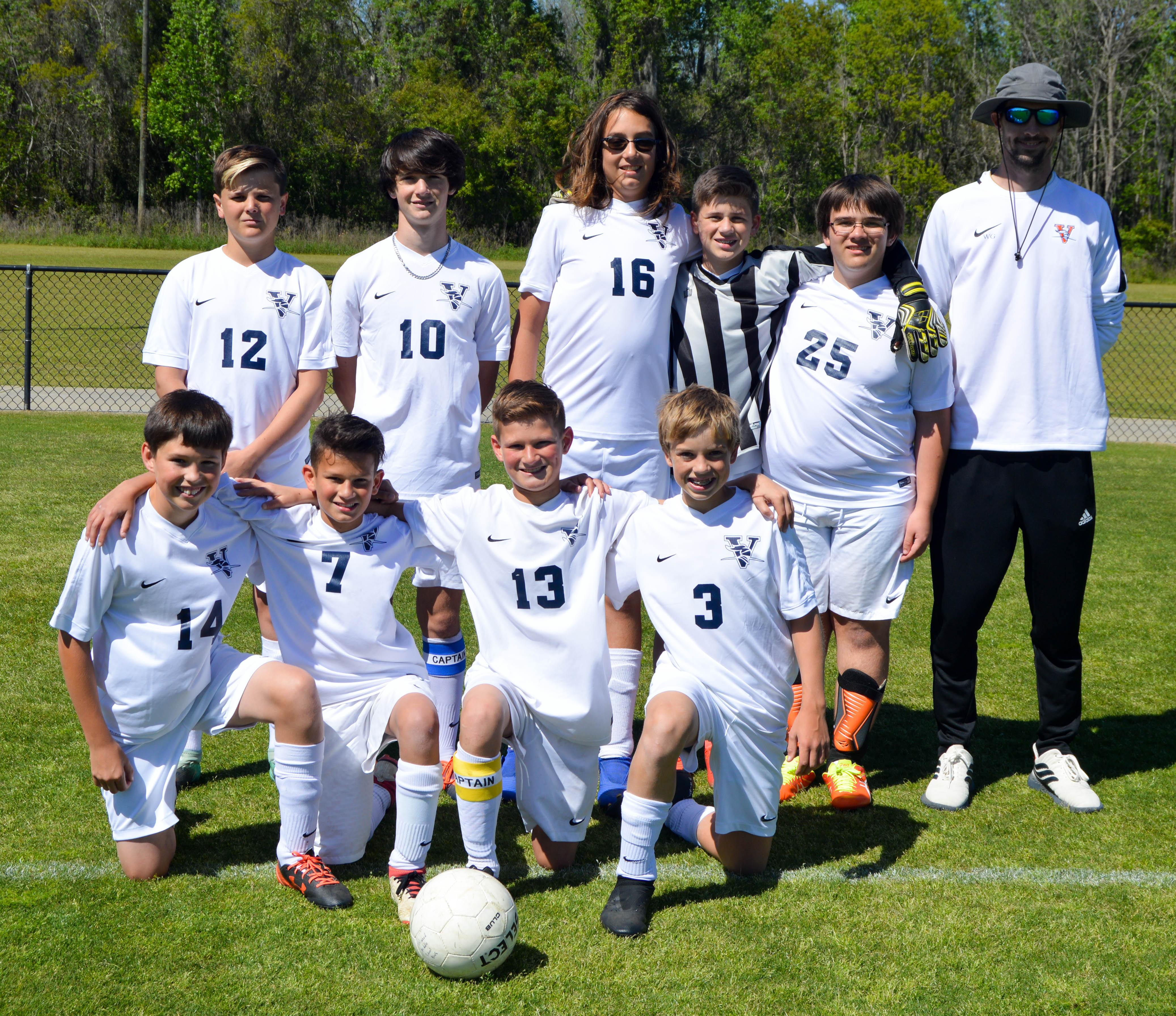 middle school boys soccer team
